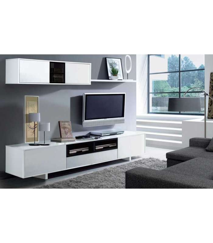 Furniture Salon Belus Gloss White And Black Glitter