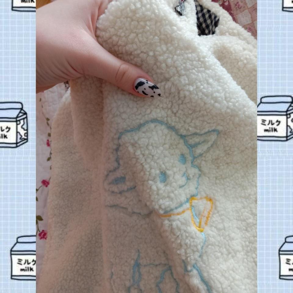Soft girl Egirl Harajuku Soft Shoulder Bag with cute animal embroidery photo review
