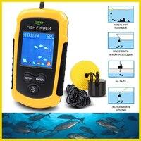 Russian warehouse! FFC1108 1 Alarm 100M Portable Sonar Fish Finders Fishing lure Echo Sounder Fishing Finder Lake Sea Fishing