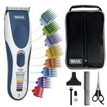Wahl Color Pro Hair Clipper Color Coded Cordless Hair Trimmer for Men Shaver Razor 10 Combs Professional Hair Cutting Machine