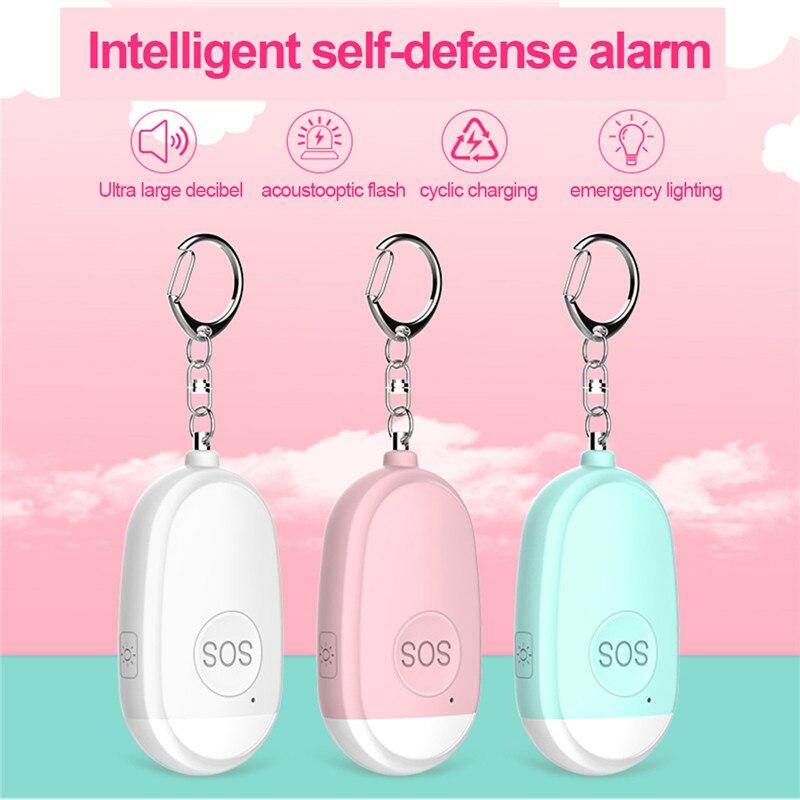 Личное удобное защитное устройство, брелок для ключей с USB, перезаряжаемая аварийная Аварийная сигнализация против изнасилования для самоо...