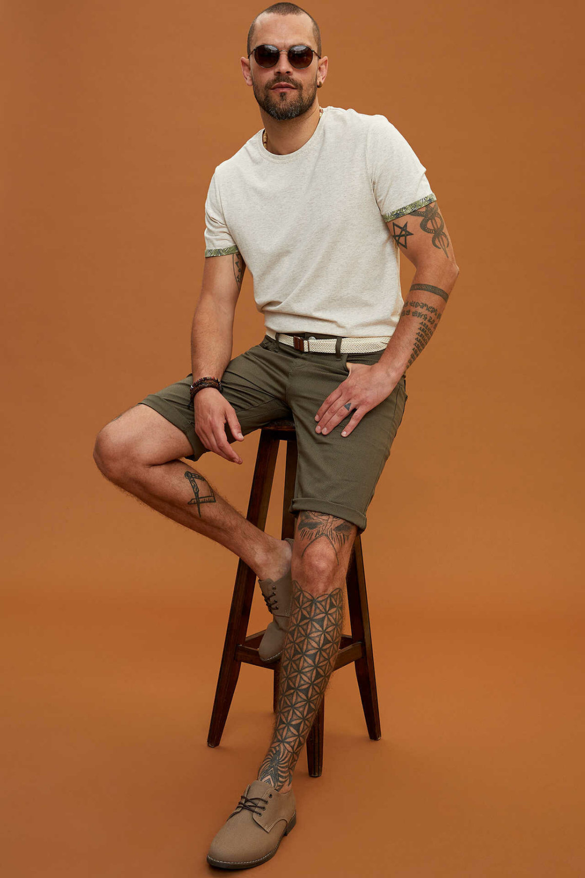 DeFacto New Man Fashion Short Pants Male Casual Comfort Shorts High Quality Men's Loose Pure Color Loose Shorts -K3994AZ19SM