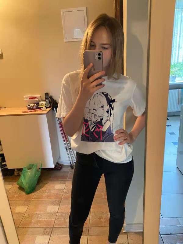 Kawaii Cartoon Pink Top Short Sleeve Punk Crop Bear print Summer Casual Cute Women T shirt Tee Fashion black clothing photo review