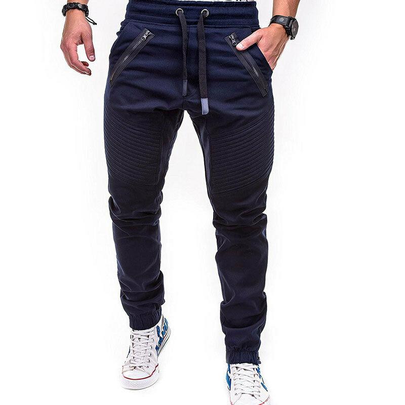 Mens Gym Slim Fit Trousers Tracksuit Bottoms Skinny Joggers Sweat Track Pants Casual Pants Jogger Sweatpants