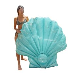 Flamingueo tapis piscine coquille flotteur géant gonflable coquille flotteur est pour piscine adulte tapis piscine