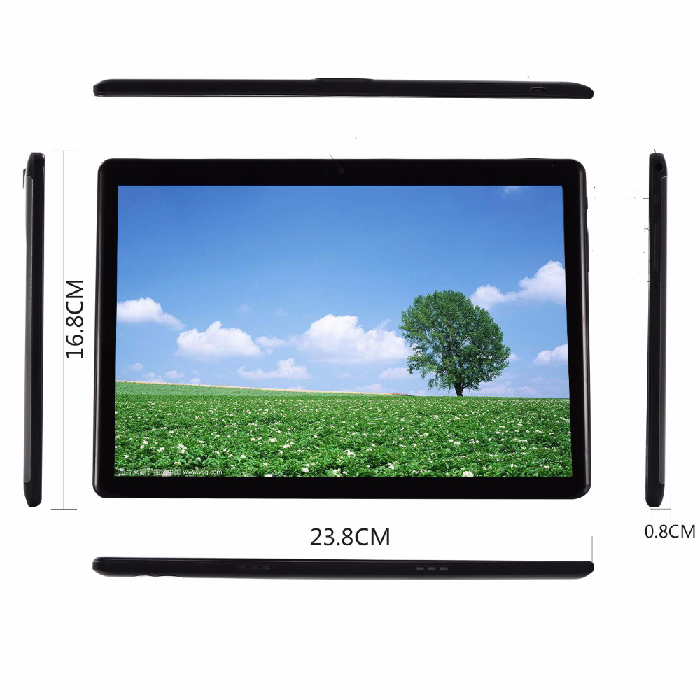 TABLET 10 INCHES, Octa Core, ANDROID 9,6 Hard Gb RAM, 64 Disc, DUAL SIM, DOUBLE TEMPERED GLASS