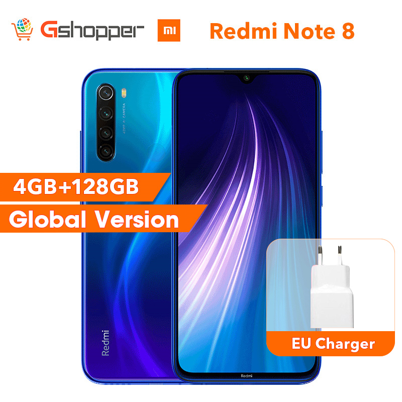 Фото. Мировой Оригинал Redmi Note 8, 4 Гб, 128 Гб ПЗУ, восьмиядерный смартфон Snapdragon 665, 48мп, экран