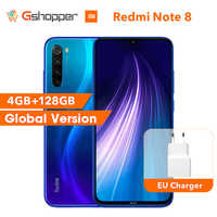 "Global Original Redmi Note 8 4GB 128GB ROM Octa Core Smartphone Snapdragon 665 48MP 6.3"" Screen 18W Fast Charger Cellphone"