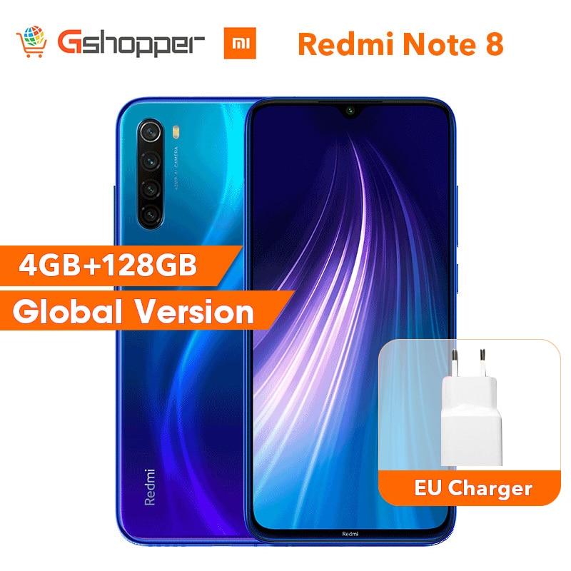 Global Original Redmi Note 8 4GB 128GB ROM Octa Core Smartphone Snapdragon 665 48MP 6,3