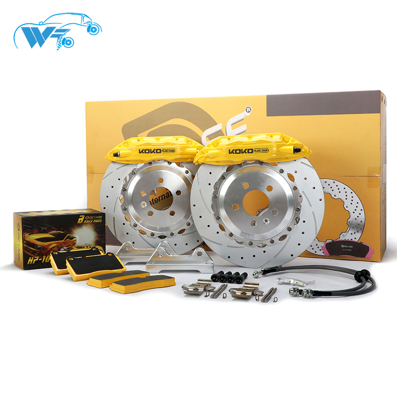KOKO RACING F50 brake system 330*28mm brake disc with 4 pot brake caliper fit with more cars model for bmw e46
