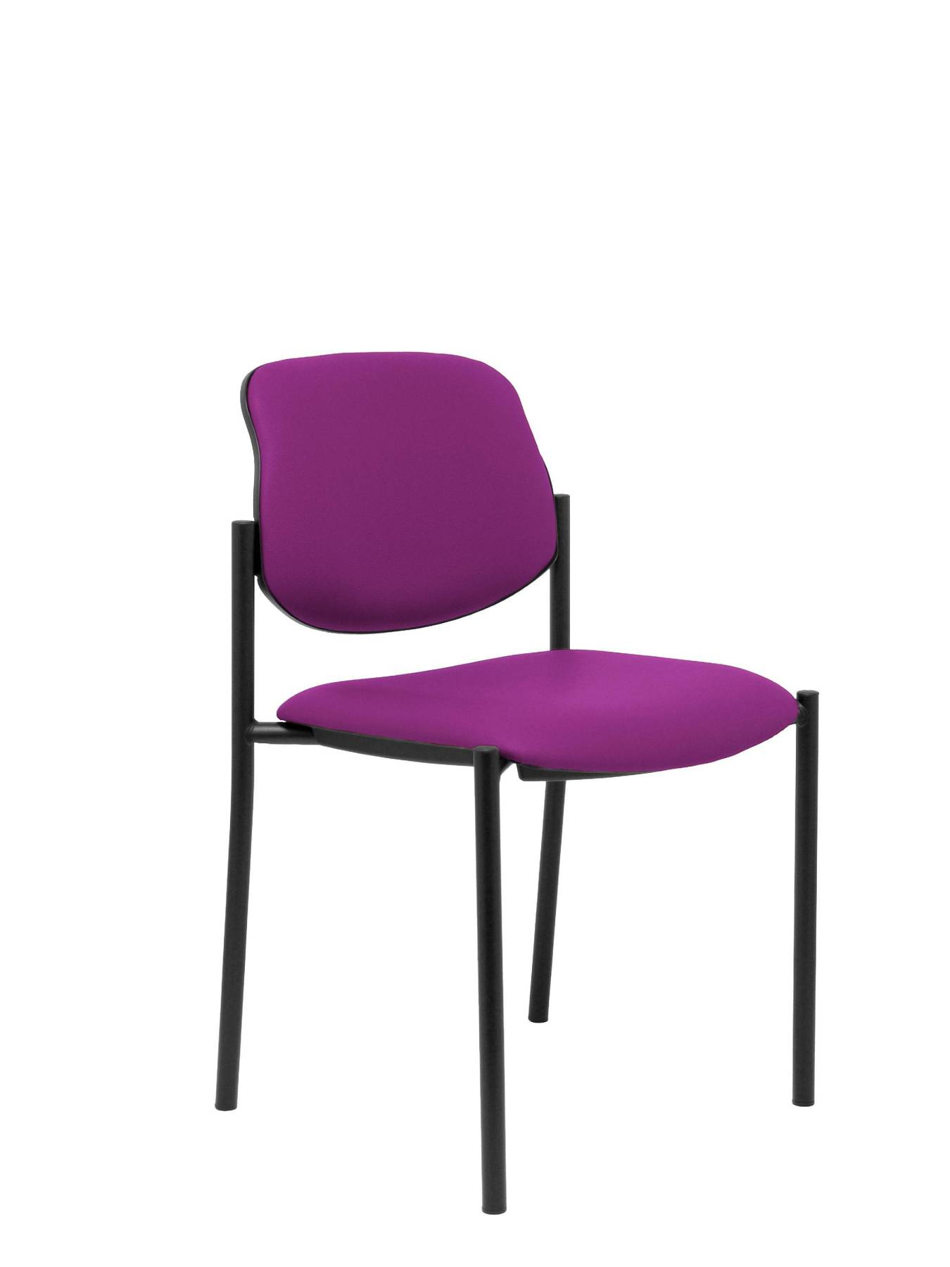 Visitor Chair 4's Topsy And Estructrua Negro-up Seat And Backstop Upholstered In Tissue Similpiel Mulberry Colour TAPHOLE