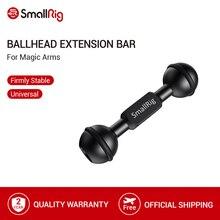 """SmallRig Ballhead Uzatma Çubuğu için Sihirli Kolları Ile Iki 1/4 """" 20 ve bir 3/8"""" 16 Dişli delik 2108"""