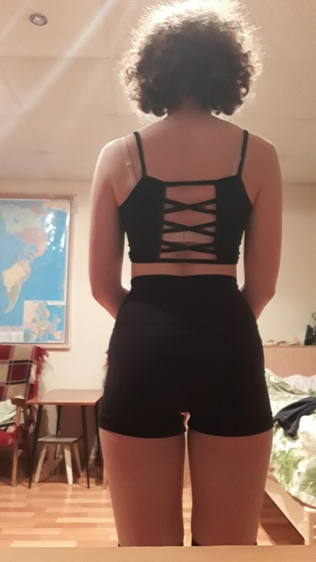 Backless Crop Top with laces E-girl photo review
