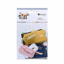 Crzcrafter 24 pçs papel impresso diecut formas efêmera bilhetes folha projetos enfeites diy scrapbooking cardmaking journaling