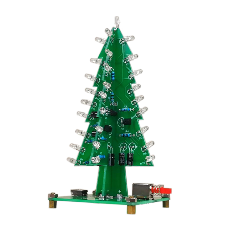 Taidacent Christmas Tree Soldering Kit Colorful LED Flash Tree Parts Electric Welding Kit Parts Soldering Electronic Components