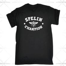 Забавная Мужская футболка модная одежда футболки spelin chanpion
