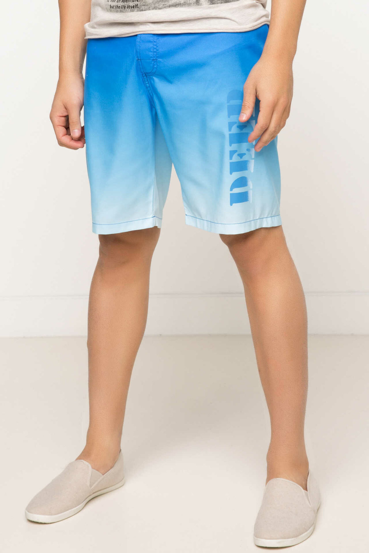 DeFacto Summer Man Woven Swimming Short Male Casual Gradient Blue Short Pants Loose Beach Swim New -G7322AZ17HS