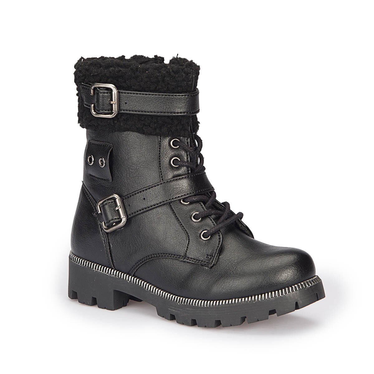 FLO 72.508486.F Black Female Child Boots Polaris