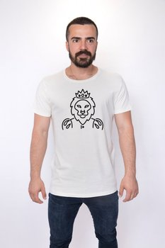 Angemiel Wear Lineal King Lion Cotton White Men 'S T-Shirt image