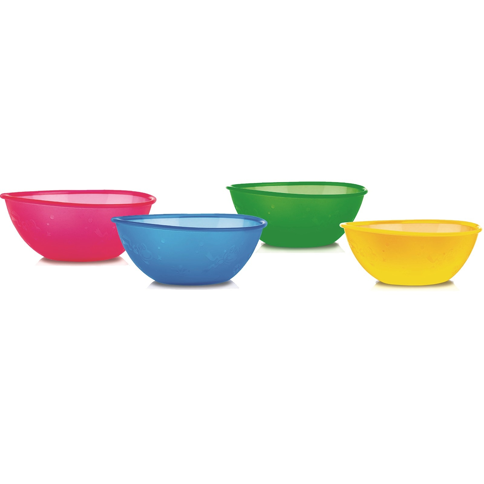 Ebebek Nuby Colored Baby Bowl 4 Pcs