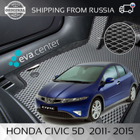 Car Mats Eva on the Honda Civic 5D C 2011 2015 set of 4x mats and jumper/Eva mats on auto
