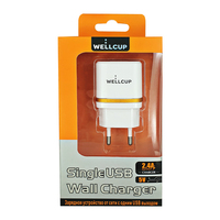 Wellcup 5V 2.4A EU Plug Mini USB Charger for Samsung Xiaomi Mobile Phone Charger Adapter Travel Wall Charger for iPhone Charger