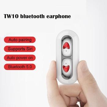 30PCS Tw10 Bluetooth headset tws wireless in-ear 5.0 binaural sports Wireless Bluetooth Earphone with Charging Case