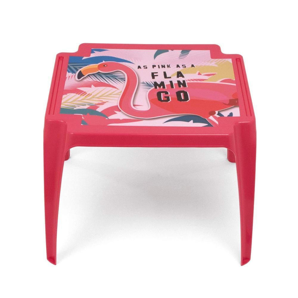 Table Plastic 50x55x44cm ZASKA-Flamingo
