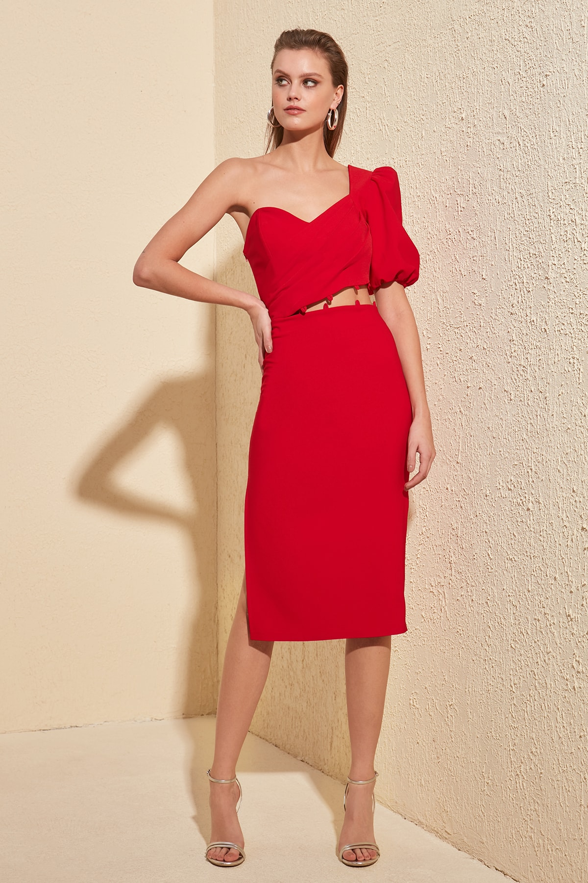 Trendyol Strap Detail Dress TPRSS20EL0402