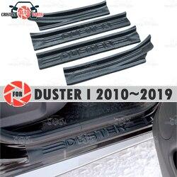 Einstiegsleisten für Renault Duster ICH 2010 ~ 2019 kunststoff ABS schritt platte inneren trim zubehör schutz scuff auto styling dekoration