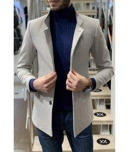 Abrigo de invierno AtakGiyim de cuello Vertical corto para hombre