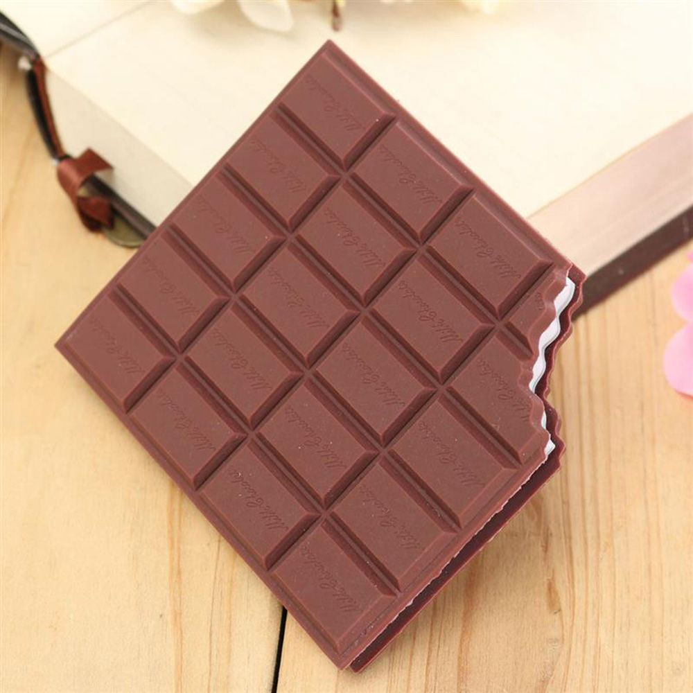 1Pcs Best Promotion Convenient Creat Stationery Handy Notebook Chocolate Memo Pad Cover Notepad School Gift