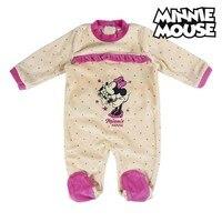 Baby der Langen ärmeln Romper Anzug Minnie Maus 74620 Weiß auf