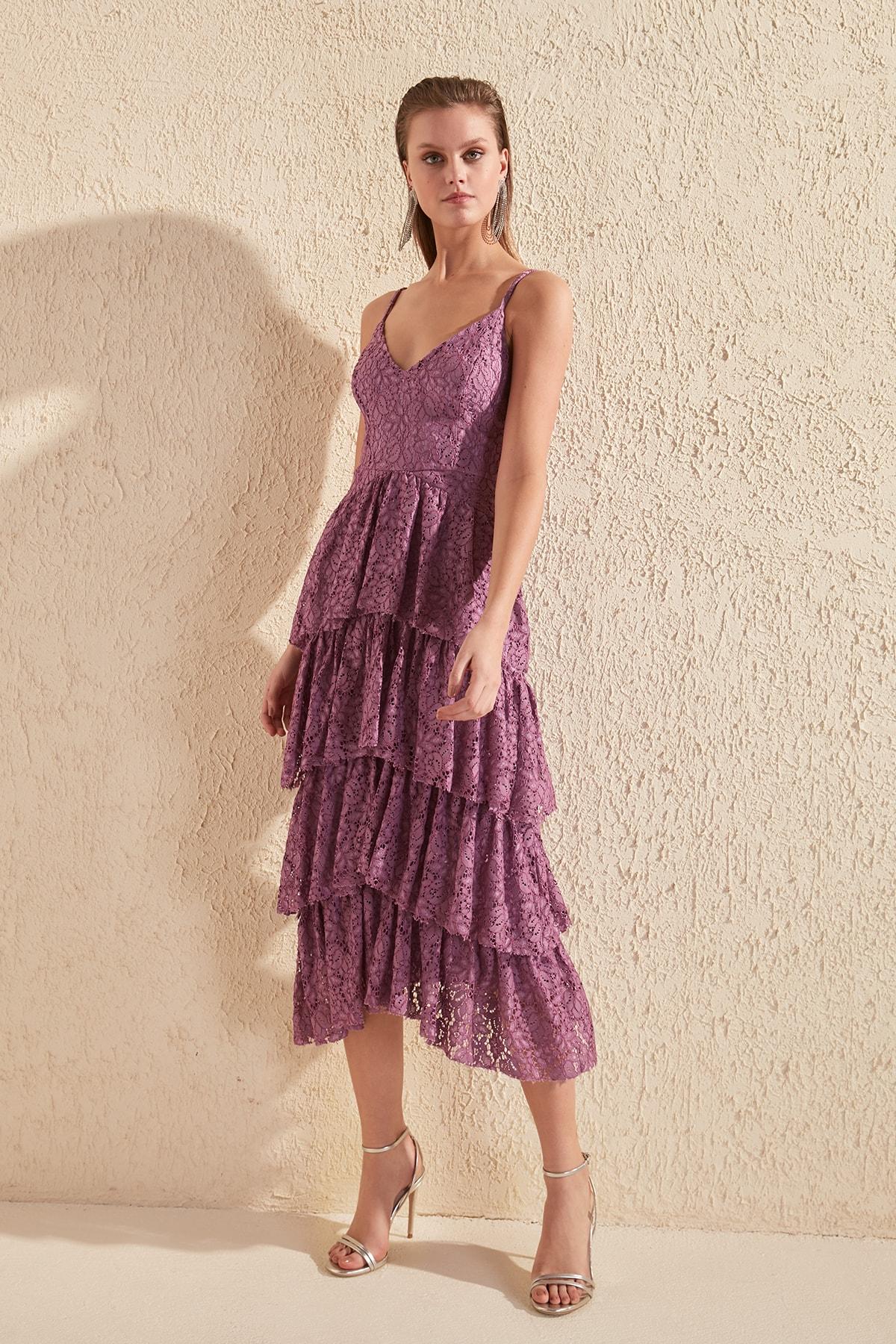 Trendyol Lace Detail Halter Dress TPRSS20EL0734