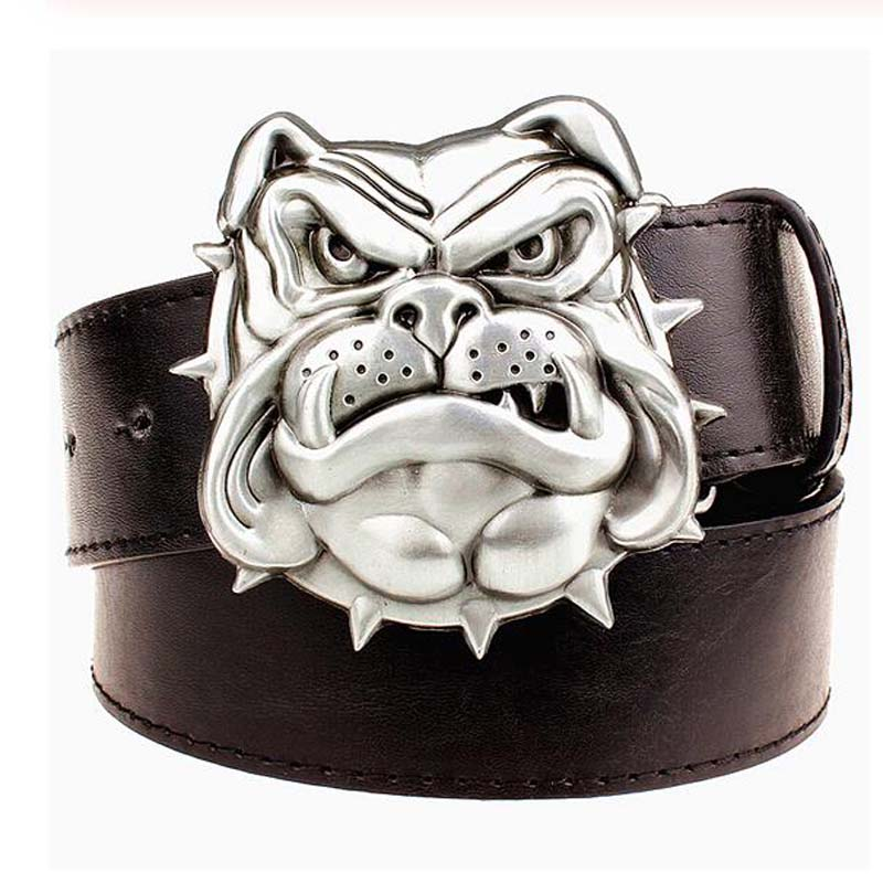 Punk Rock Metal Bulldog Belt Buckle For Men Belts Omeg Psi  Phi Fraternity Buckle