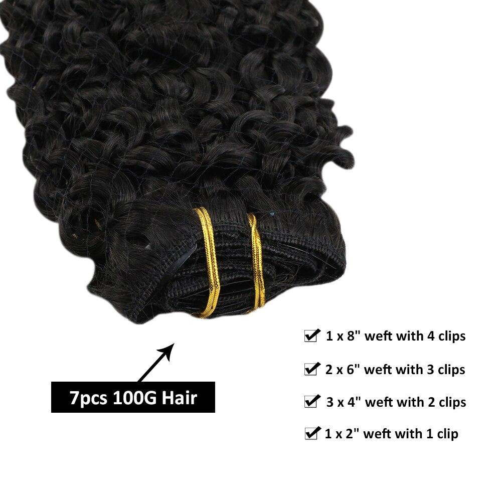 marrom cabelo #4 corpo onda grampo no