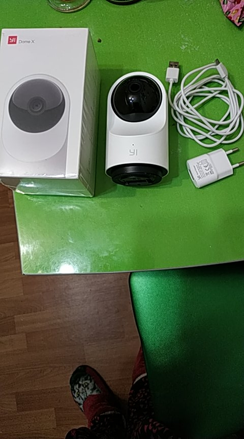 Dome Camera X 1080P Full HD AI Baseret To-vejs lydsikkerhed IP Cam Mennesker / kæledyr Detektion Night Vision Support SD-kort / YI Cloud