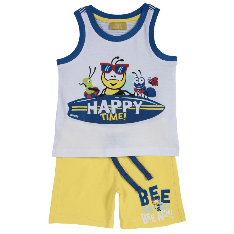 Set T shirt and shorts Chicco, size 086, color Bee (yellow)