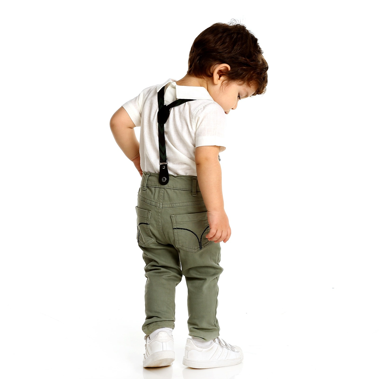 Ebebek Overdo Colorful Embroidered Cotton Baby Pants