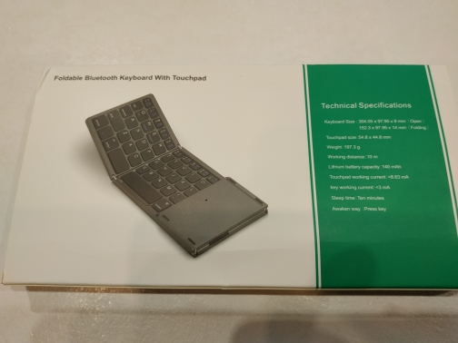 Foldable Bluetooth Keyboard with Touchpad photo review