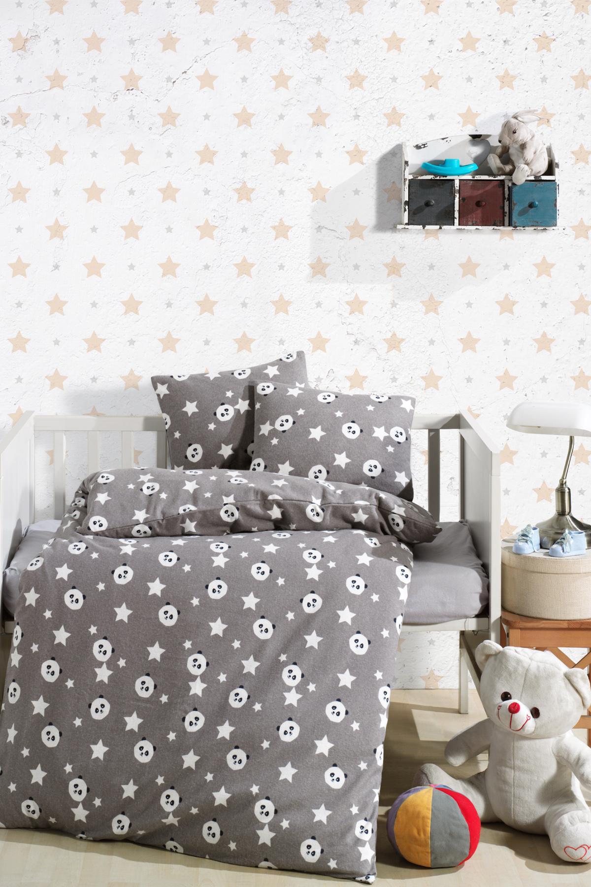 Panda 7Parça 100 Cotton Baby Sleep Set