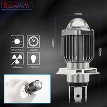 Bravyway 1 шт 100w головной светильник s h4 h6 автомобиля hi/короче