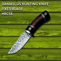 Damascus Steel Hinting Knives Camping Home Outdoor Tools Tactical Knife Fixed Blade Damascus Pocket Knife Survival Rescue Tool