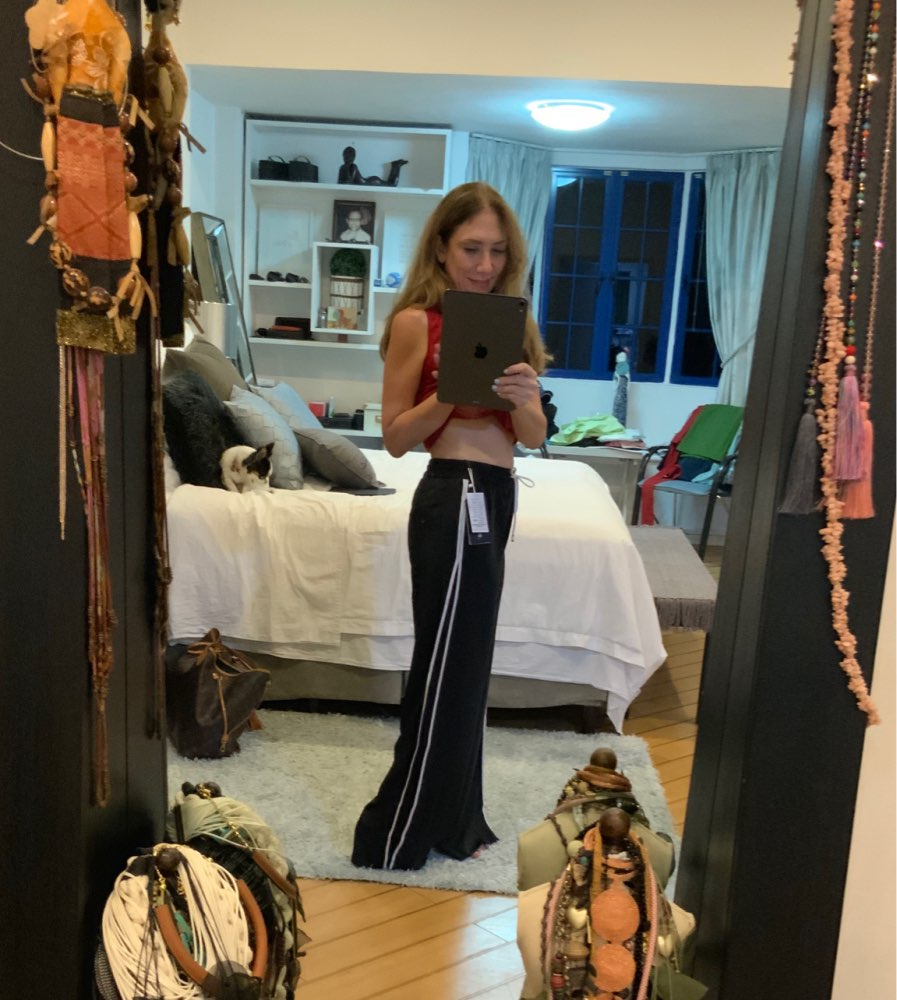 Women Spring High Waist Wide Leg Pants Palazzo Casual Loose Full Length Pants White Gray Baggy Pants Korean Style Plus Size photo review