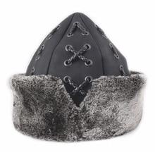 Bork-Turkish,Military,Pilot,Trapper,Trooper,Hat,Turkish,Cold Protection,Bork,Earflap,Men,Snow Caps,Genuine Leather
