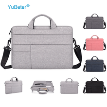YuBeter корпус для компьютера сумка для ноутбука для ноутбука for macbook pro 13 15 6 14 женский Мужской портфель для пк сумочка Наплечные сумки недорого