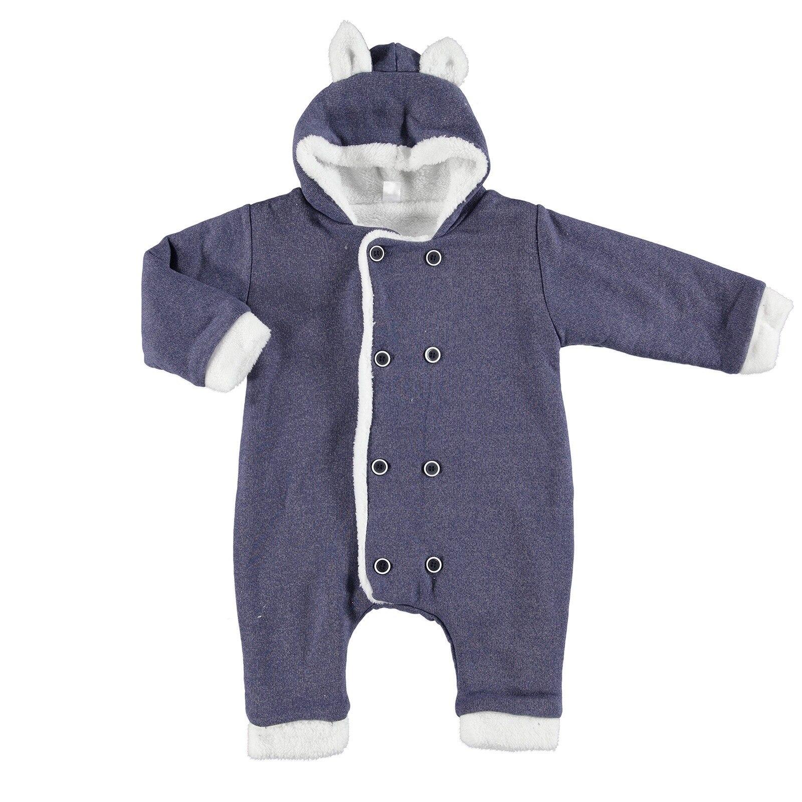 Ebebek BabyZ Baby Button Detail Hoodie Romper