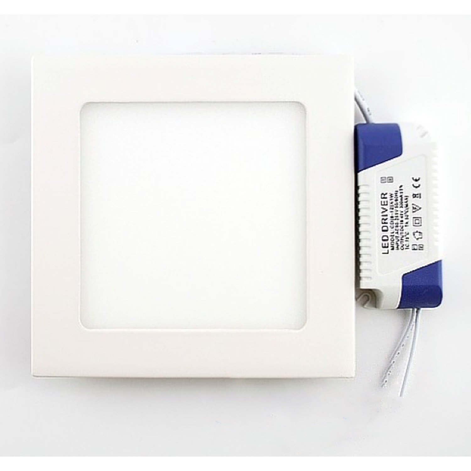 12w LED Panel Light square-Ceiling Flat Panel Downlight Lamp 6000k cold white luo db03 gu10 8w 600lm 6000k 16 smd 5630 led white light spotlight 85 265v