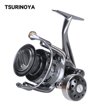 TSU Fishing Carp Reel BROWN BEAR 4000 5000 6000 7000 9+1BB 12-20KG Max Drag Saltwater Spinning Feeder Lure Reel Full Metal Wheel
