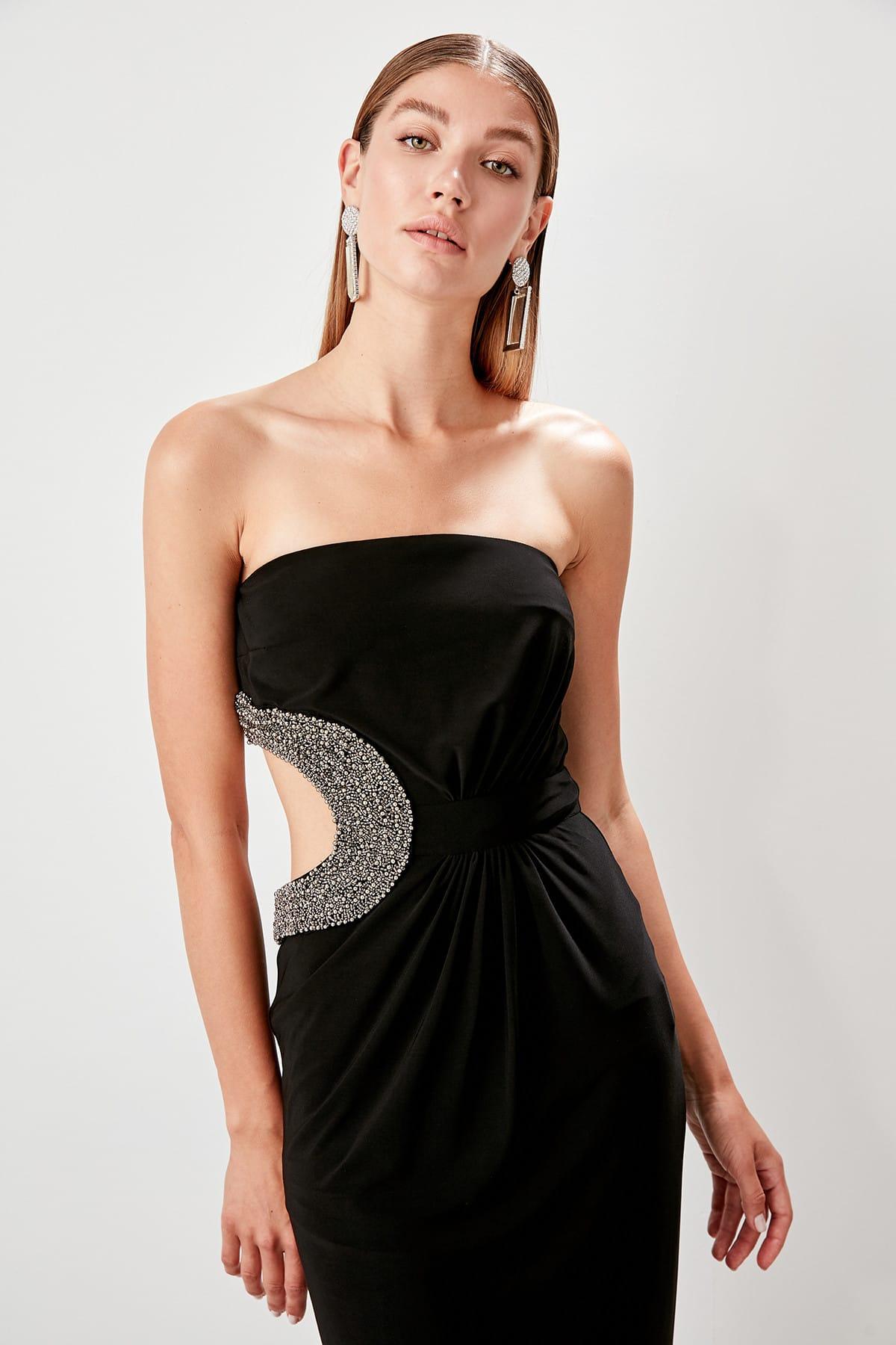 Trendyol Detail at Waist Evening Dress TPRSS19AE0045()